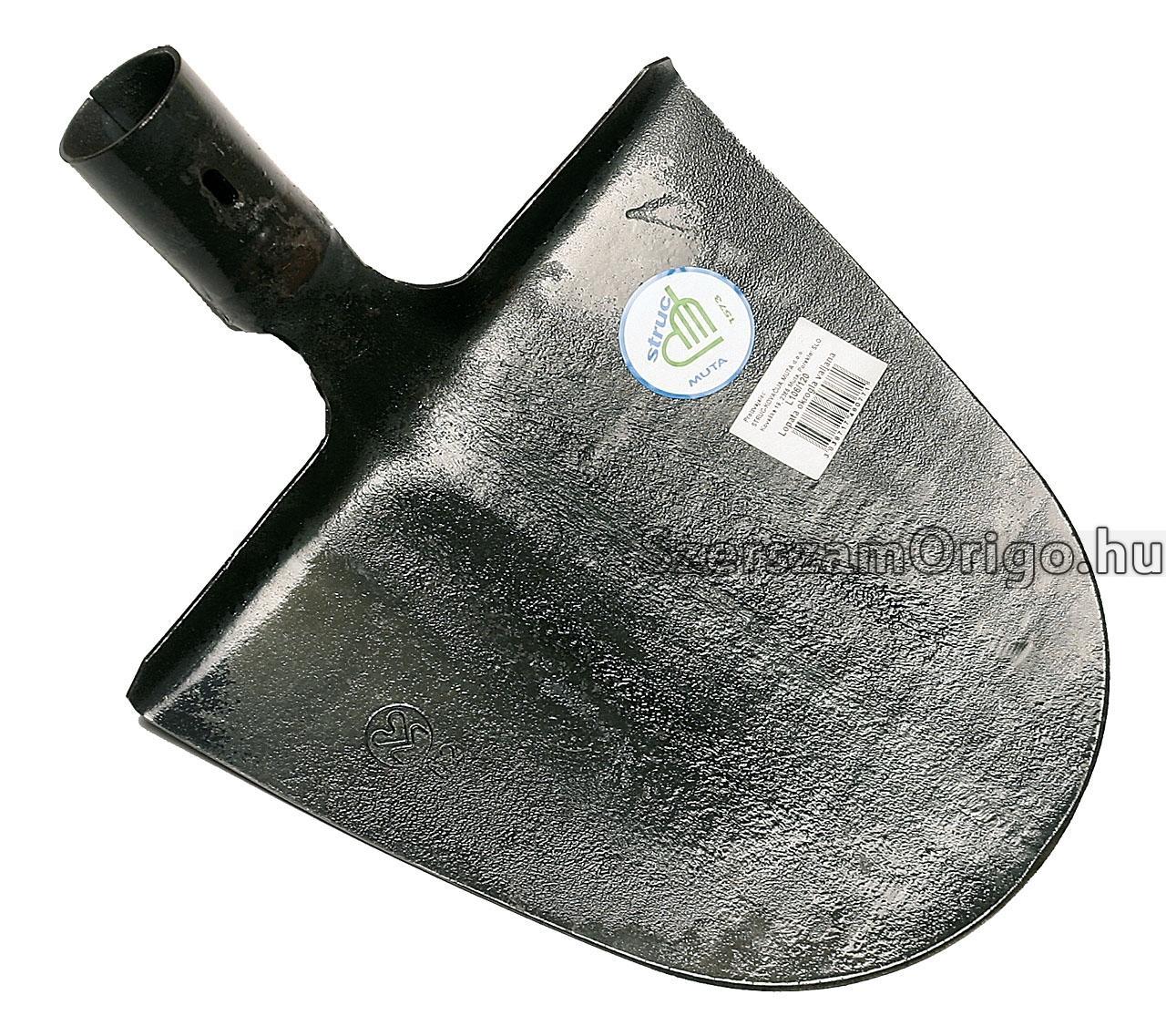 lapát - földhányó, kovácsolt, hajlított nyéllel